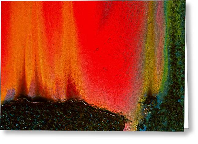 Corrosion Abstract Greeting Card