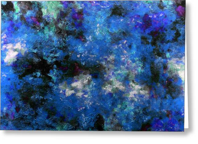 Corrosion Bleue Greeting Card by RochVanh