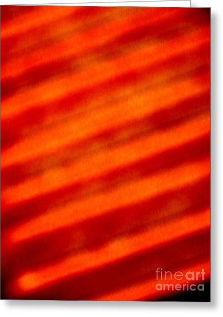 Corrugated Orange Greeting Card