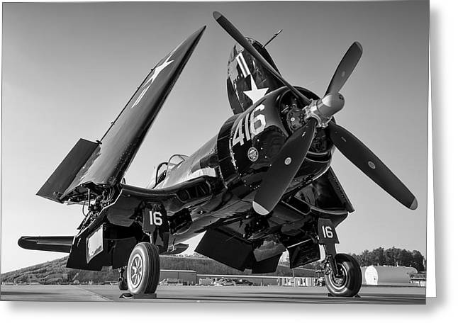 Corsair On The Ramp Greeting Card