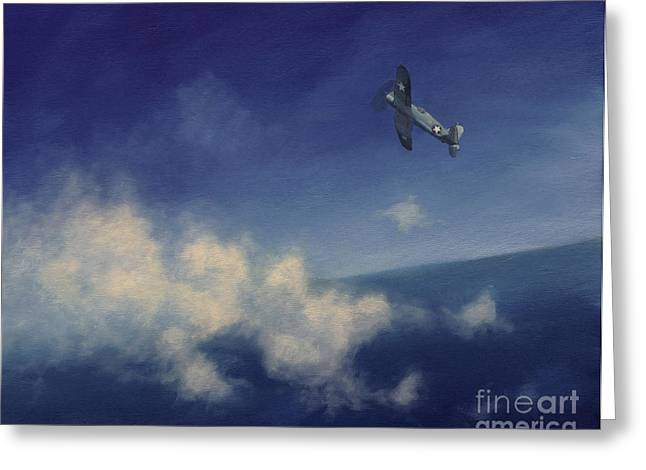 Greeting Card featuring the painting Corsair by Stephen Roberson