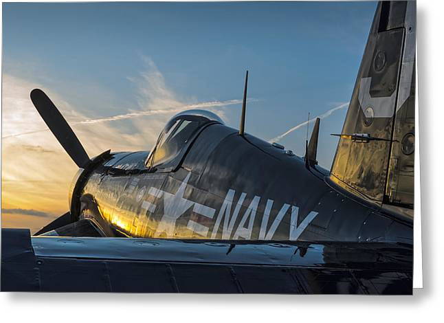 Corsair Sunset Greeting Card