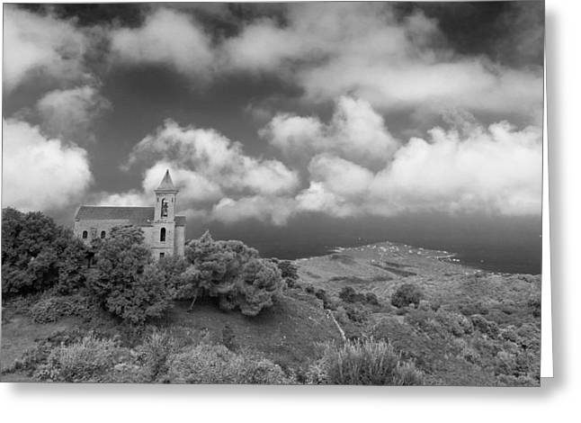 Corsican Church Greeting Card