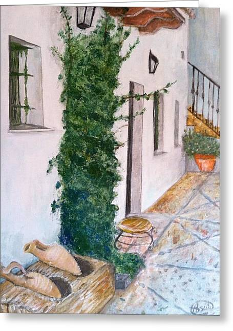 Cortijo Las Duchas Greeting Card by Asuncion Purnell