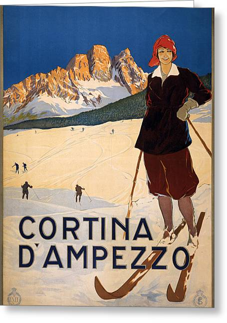 Cortina D Ampezzo Greeting Card by MotionAge Designs