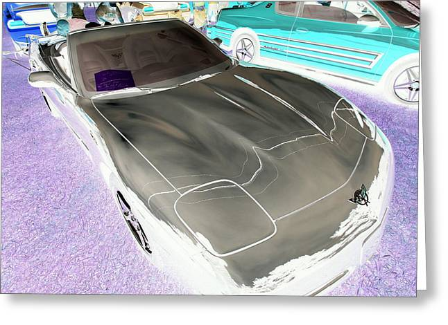 Greeting Card featuring the photograph Corvette 2003 50th Anniv. Edition by John Schneider