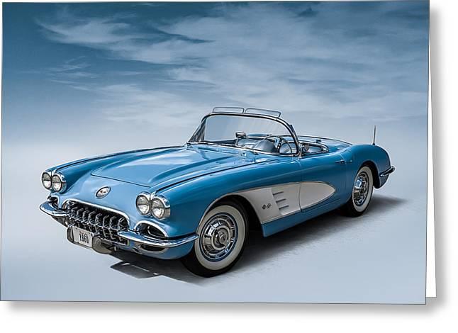 Corvette Blues Greeting Card