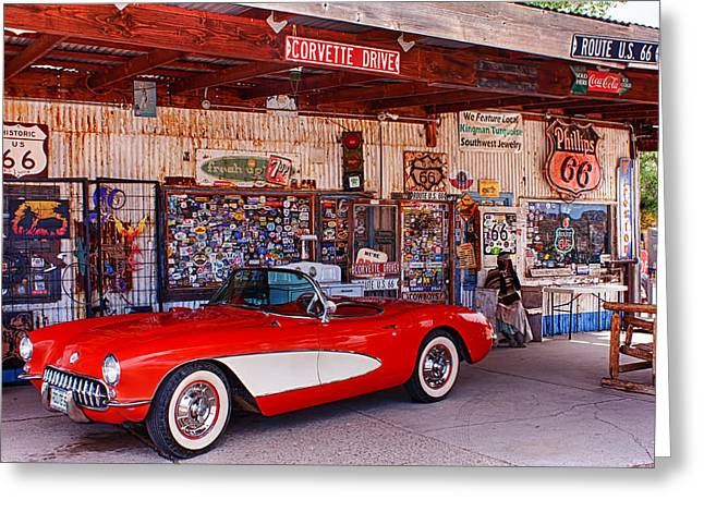 Corvette Drive Rt 66 Greeting Card