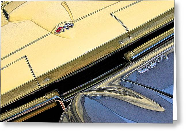 Greeting Card featuring the photograph Corvette Edges by Christopher McKenzie