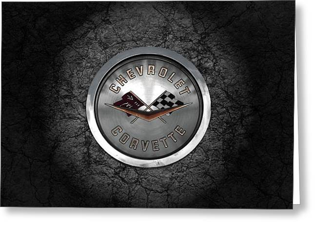 Corvette Emblem Greeting Card