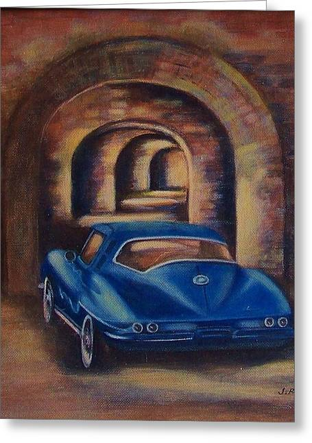 corvette Fort Mccomb Greeting Card by Jane Landry  Read