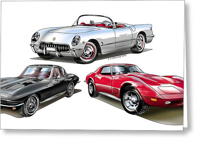 Corvette Generation Greeting Card