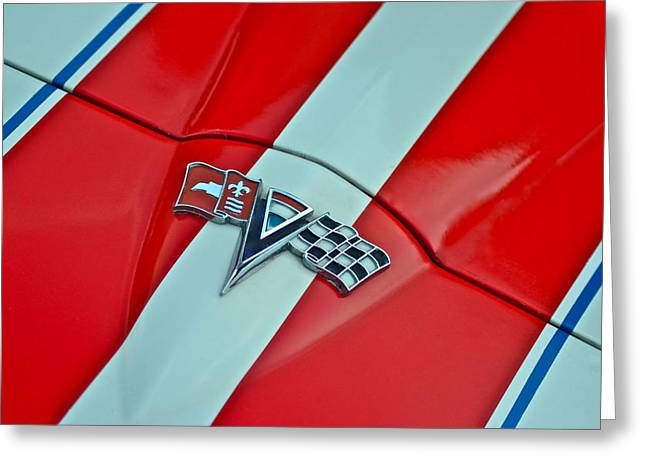 Corvette Greeting Card by Frozen in Time Fine Art Photography