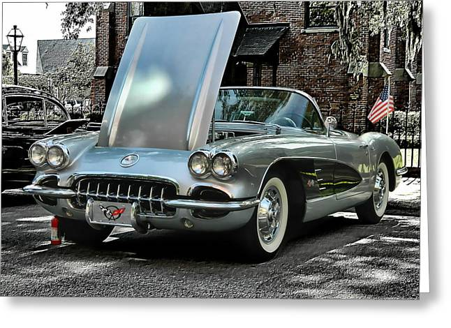 Greeting Card featuring the photograph Corvette by Victor Montgomery