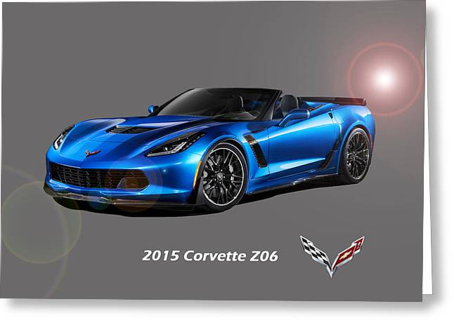 Corvette Z06 Convertible Greeting Card