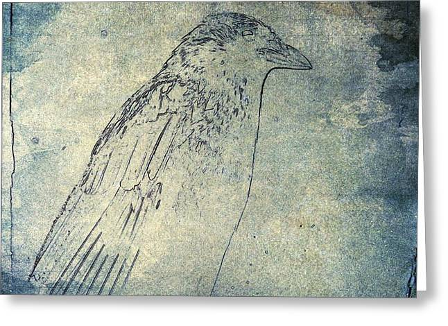 Faded Corvidae Greeting Card by Gothicrow Images
