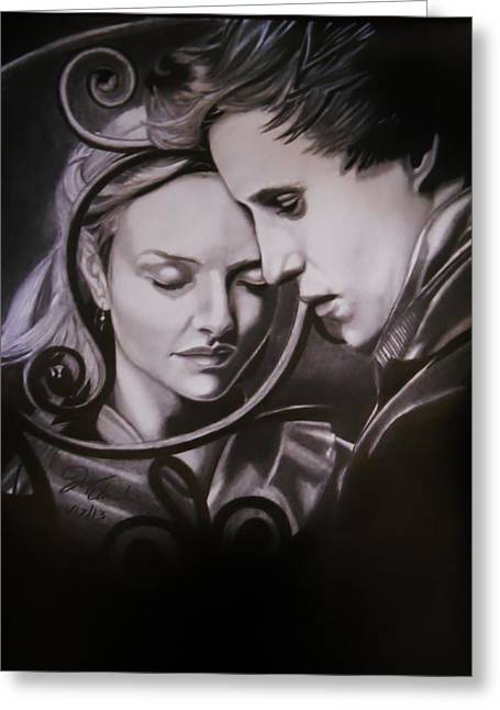 Cosette And Marius.  Greeting Card