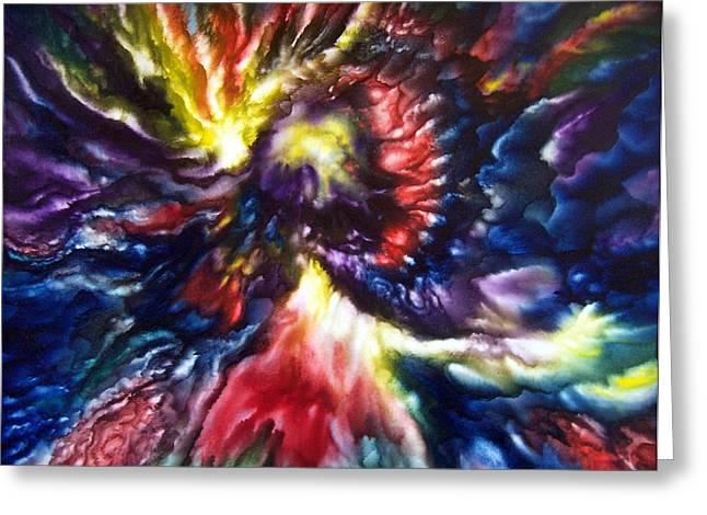 Cosmic Angel Greeting Card by Glenda Stevens