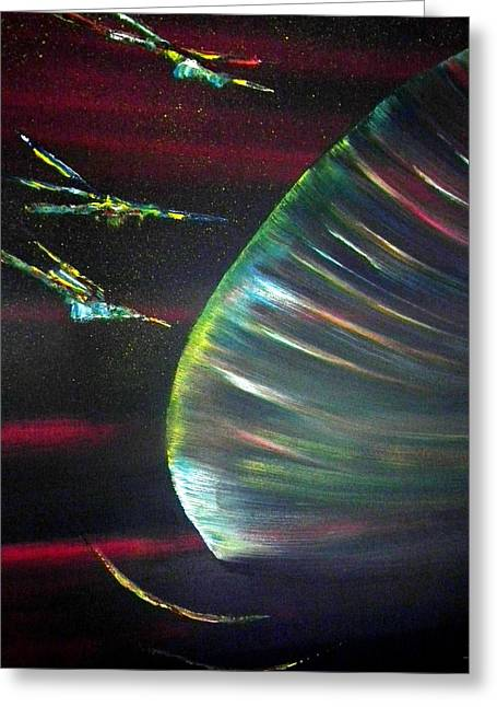 Cosmic Beauty Greeting Card