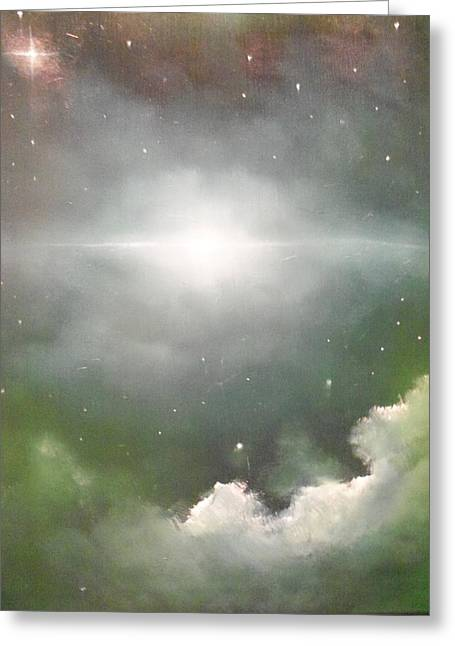 Cosmic Blast Greeting Card by Ricky Haug