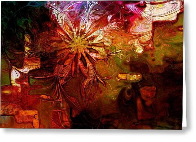 Cosmic Bloom Greeting Card by Amanda Moore