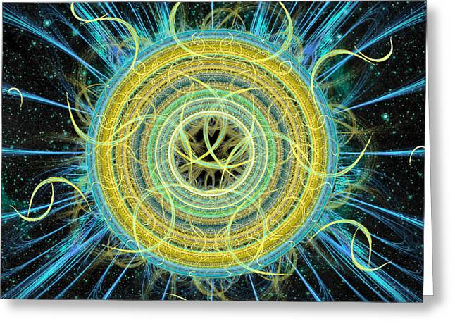 Cosmic Circle Fusion Greeting Card