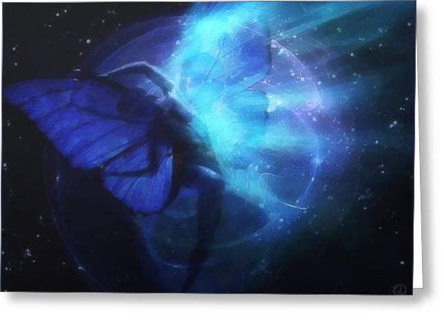 Cosmic Dance Of Joy Greeting Card by Gun Legler