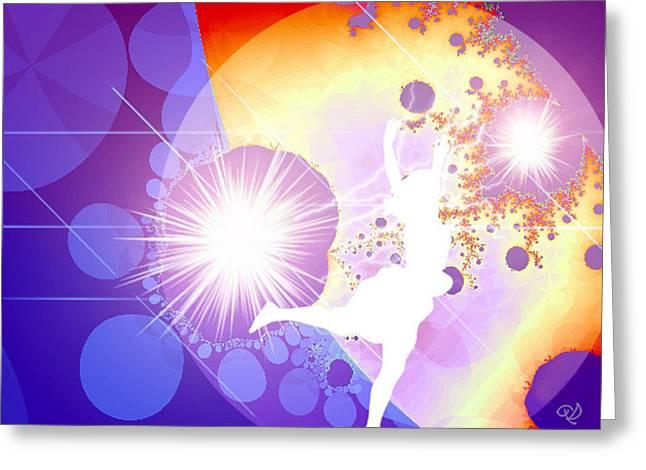 Cosmic Dance Greeting Card by Ute Posegga-Rudel