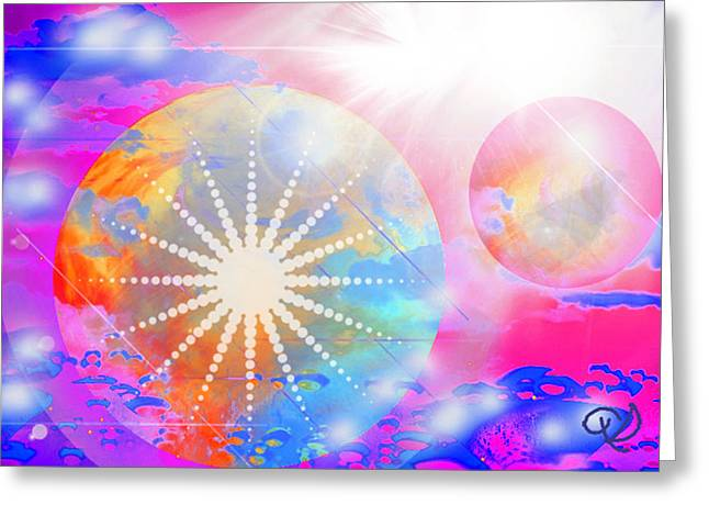 Cosmic Delight Greeting Card