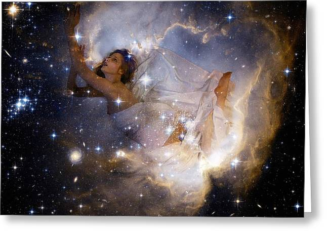 Cosmic Dream Greeting Card by Gun Legler