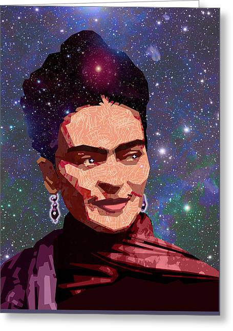 Cosmic Frida Greeting Card