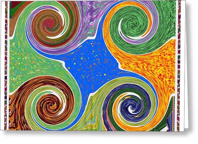Cosmic Healing Energy  Source Imagination Connection Tuning Faith Belief Mandala Chakra Reiki Karuna Greeting Card