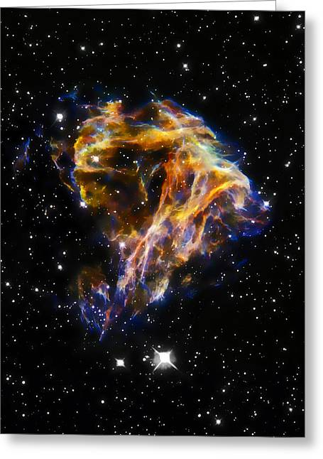 Cosmic Heart Greeting Card by Jennifer Rondinelli Reilly - Fine Art Photography