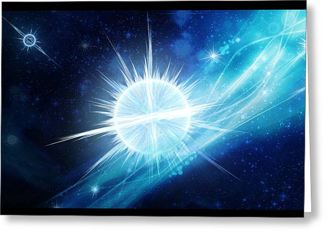 Cosmic Icestream Greeting Card