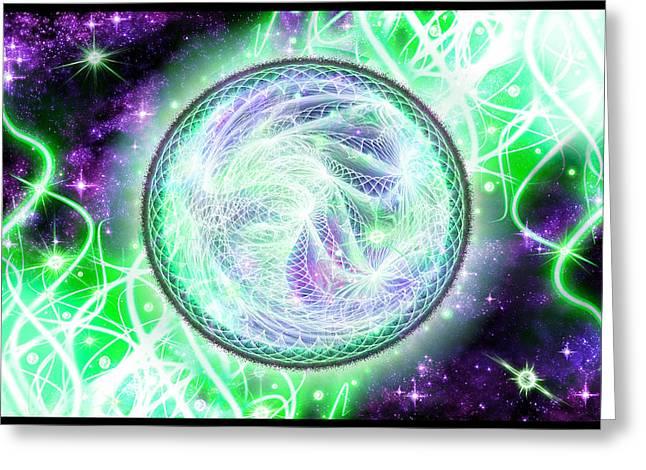 Cosmic Lifestream Greeting Card