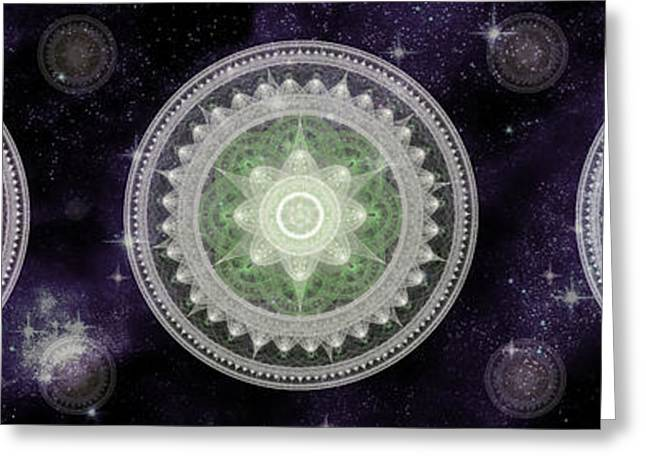Cosmic Medallians Rgb 2 Greeting Card