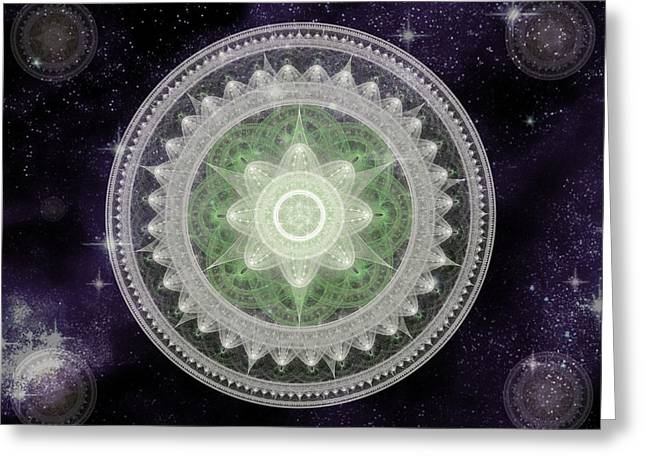 Cosmic Medallions Earth Greeting Card