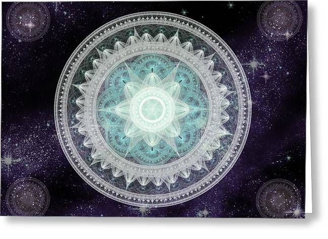 Cosmic Medallions Water Greeting Card