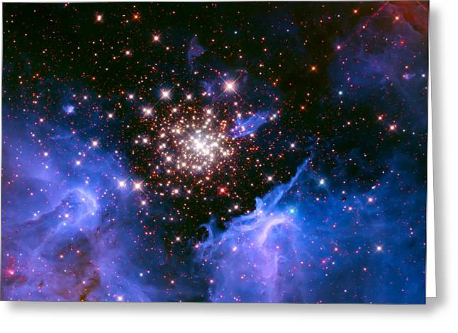 Cosmic Mountains Greeting Card by Jennifer Rondinelli Reilly - Fine Art Photography
