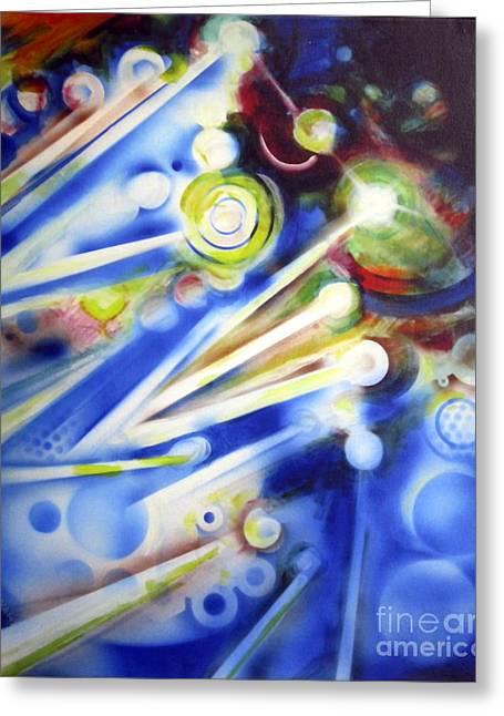 Cosmic Orbs #7 Greeting Card by Yael Avi-Yonah