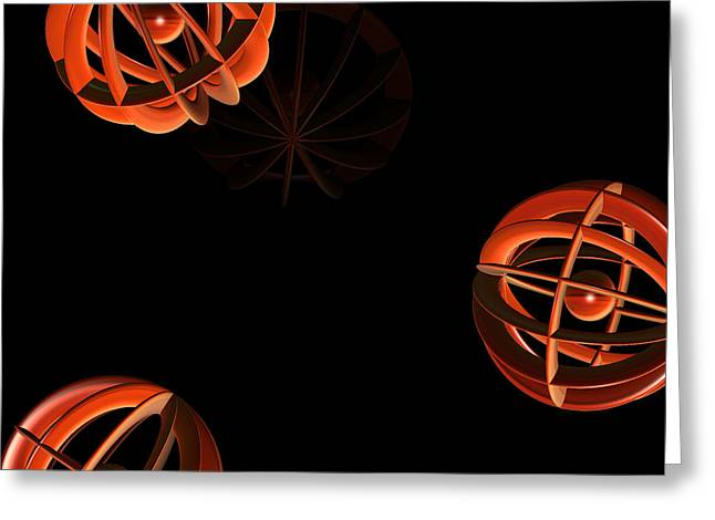 Cosmic Pumpkins By Jammer Greeting Card by First Star Art