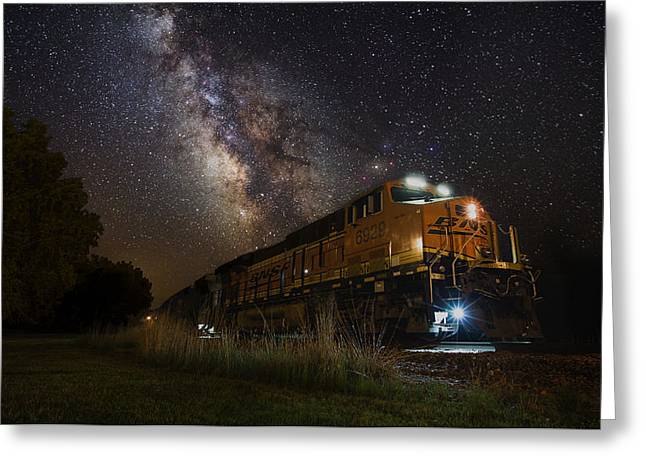 Cosmic Railroad Greeting Card