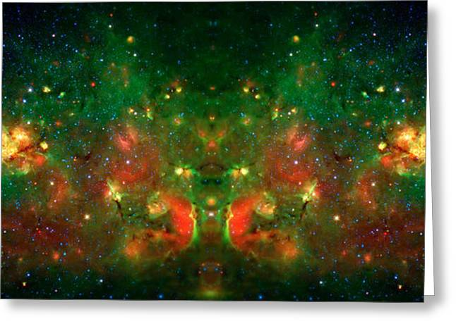 Cosmic Reflection 1 Greeting Card by Jennifer Rondinelli Reilly - Fine Art Photography