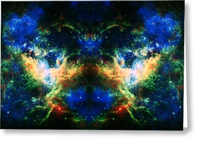 Cosmic Reflection 2 Greeting Card by Jennifer Rondinelli Reilly - Fine Art Photography