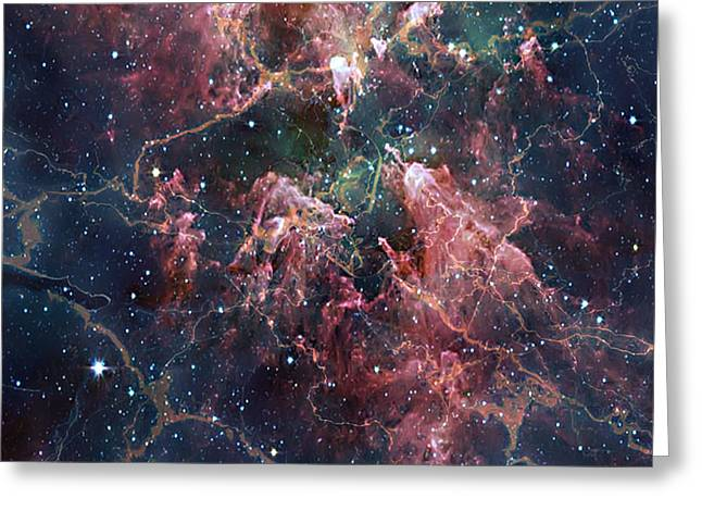 Cosmic Soup Greeting Card by Brian Wallace