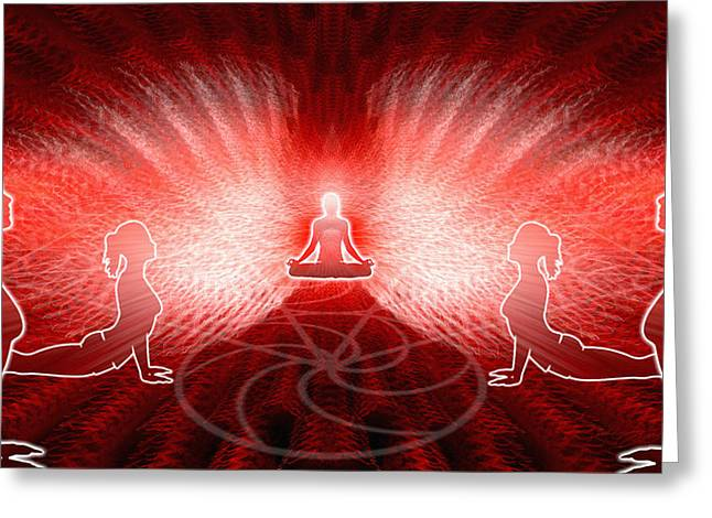 Cosmic Spiral Ascension 25 Greeting Card by Derek Gedney