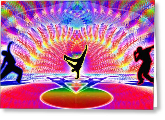 Cosmic Spiral Ascension 48 Greeting Card by Derek Gedney