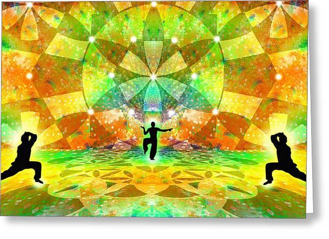 Cosmic Spiral Ascension 66 Greeting Card by Derek Gedney
