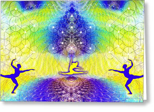 Cosmic Spiral Ascension 67 Greeting Card by Derek Gedney
