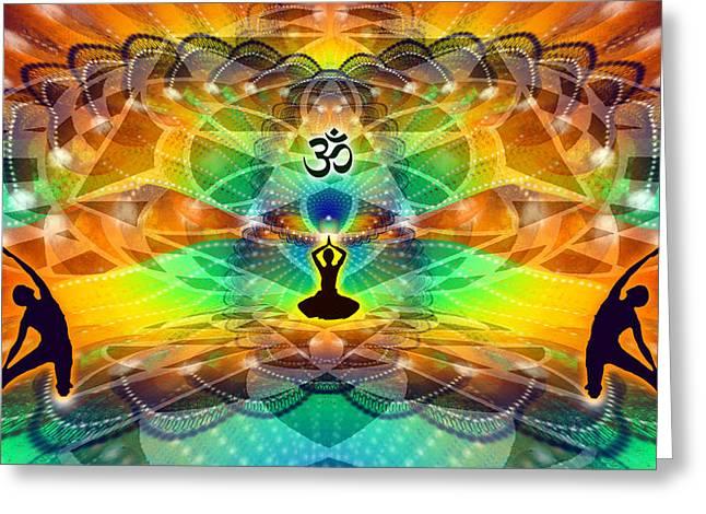 Cosmic Spiral Ascension 68 Greeting Card by Derek Gedney